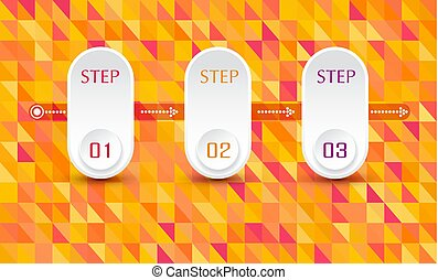 Vector abstract element for business. Strategy in stages. Steps of development, teamwork. Business concept illustrated in three stages, parts, steps. Graph, diagram, presentation.