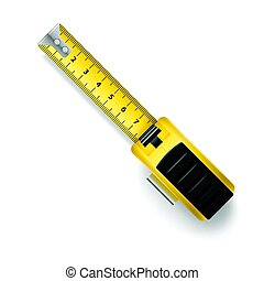 Tape Measure - Open Tape Measure Centimeter Scale Over White...