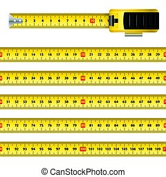 Tape Measure - Measuring Graphic Design Centimeter Scale...