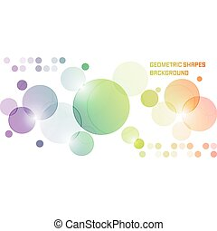 Abstract vector background with overlapping colored circles....