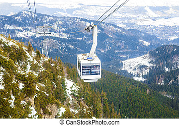 Cable Car Winter - The cable car to Kasprowy Wierch peak in...