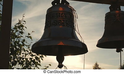 Church bells at sunset