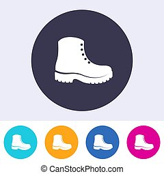 Protective footwear must be worn icon - Single vector...