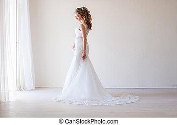 bride wedding gown white wedding love 1