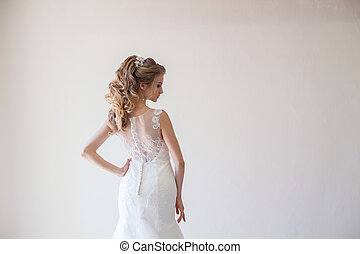 bride wedding gown white wedding love