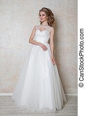 bride wedding gown white wedding love - bride in wedding...