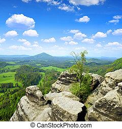 Czech-Saxony Switzerland - Beautiful landscape in...