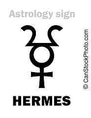 Astrology: planet HERMES - Astrology Alphabet: HERMES,...