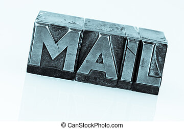 "e-mail written in lead characters - the word ""e-mail"" in..."