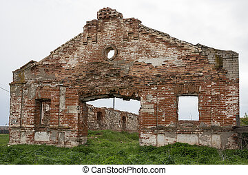 Dilapidated stud farm  in the countryside