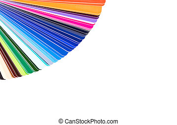 Color palette isolated on white background, color catalog, guide of paint samples
