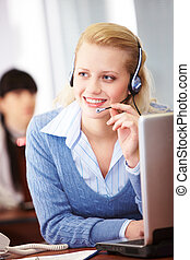 Customer support representative - Pretty operator speaking...
