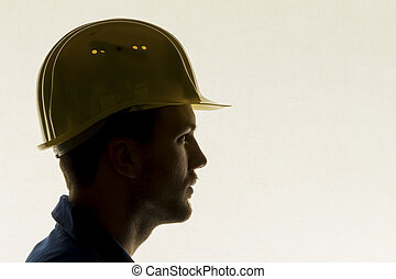 craftsman with tools - a worker in an industrial operation...