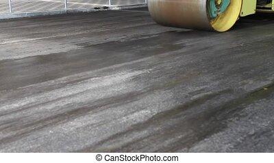 Road repair, asphalt, highway, machinery, city,
