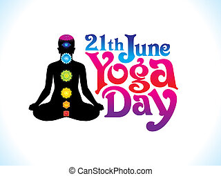 abstract yoga day background