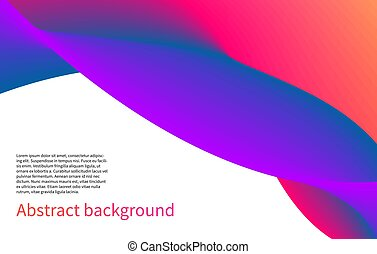 Horizontal banner - Bright pink and violet horizontal banner...