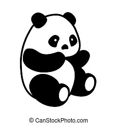 Panda bear vector - Vector illustration cute cartoon Asian...