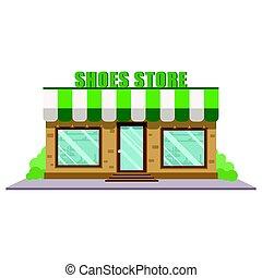 Shoe store facade