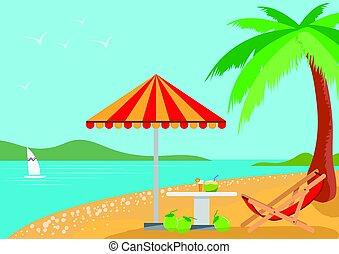 summer holidays on the beach.