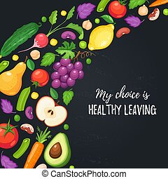 healthy eating poster - My choice is healthy eating. Food...