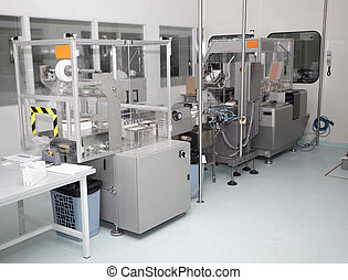 pharmaceutical industry drugs health care - interior of a...