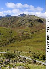 Snowdon from Afon Glaslyn - View of Snowdon Yr Wyddfa in...