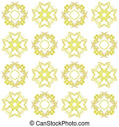 Seamless texture with 3D rendering abstract fractal yellow pattern