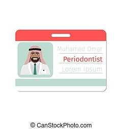Periodontist medical specialist badge template for game...