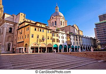 Mantova city Piazza delle Erbe view, European capital of...