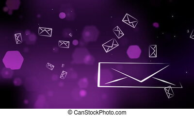 Envelopes in Purple Tone - Computer-rendered animation for...