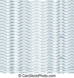 Blue white wavy lines - Abstract geometric texture...