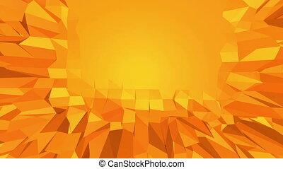 Polygonal digital mosaic vibrating environment or waving...