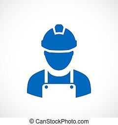 Builder worker icon - Builder worker vector icon
