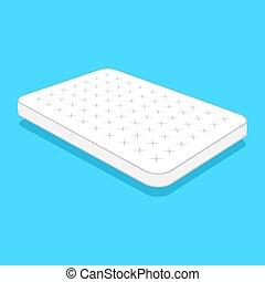 plain white mattress. - Double white mattress in flat style...