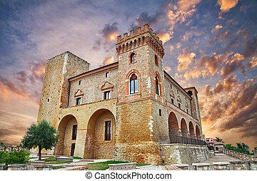 castle of Crecchio, Abruzzo, Italy - Crecchio, Chieti,...