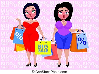 Colorful Plus Size Fashion Template