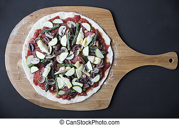 Vegan Pizza Ready to Cook
