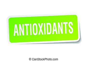 antioxidants square sticker on white