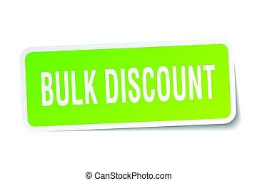bulk discount square sticker on white