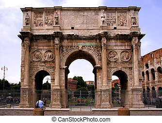 Landmark of Rome, Italy - Arch of Constantine Arco...