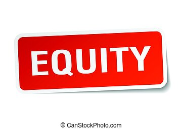 equity square sticker on white