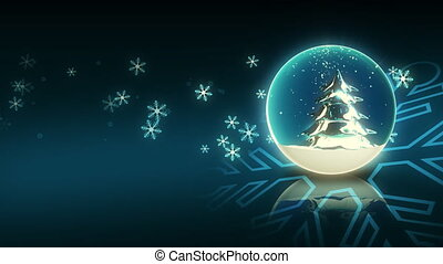 Turning Blue Christmas Ball - Computer-rendered animation...