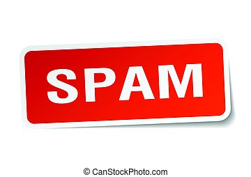 spam square sticker on white