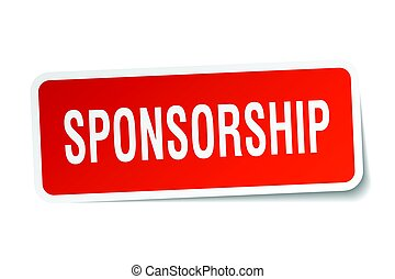 sponsorship square sticker on white