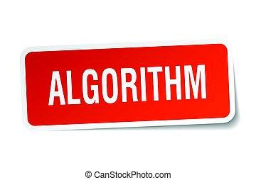 algorithm square sticker on white