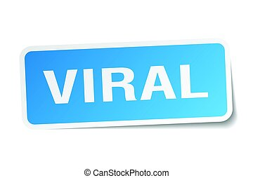 viral square sticker on white