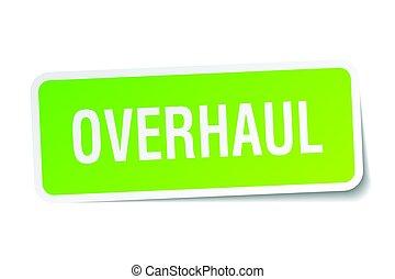 overhaul square sticker on white