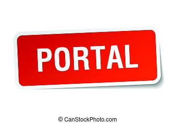 portal square sticker on white