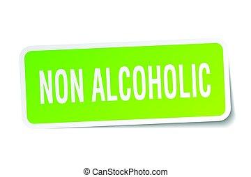 non alcoholic square sticker on white