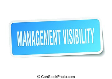 management visibility square sticker on white